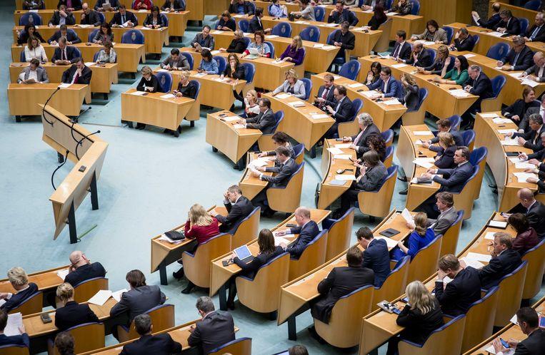 De plenaire zaal van de Tweede Kamer. Beeld ANP