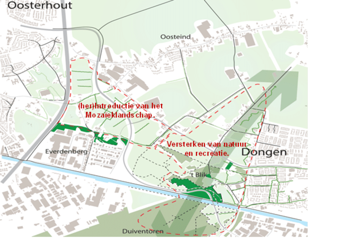 De natuur tussen Oosterhout en Dongen moet meer kwaliteit krijgen. Ter compensatie van de aanleg van de nieuwe N629.
