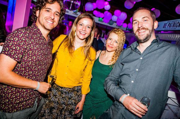 Jelle De Beule en Jonas Geirnaert kwamen samen met hun partners, Sylvia Van Driessche en Julie Mahieu.