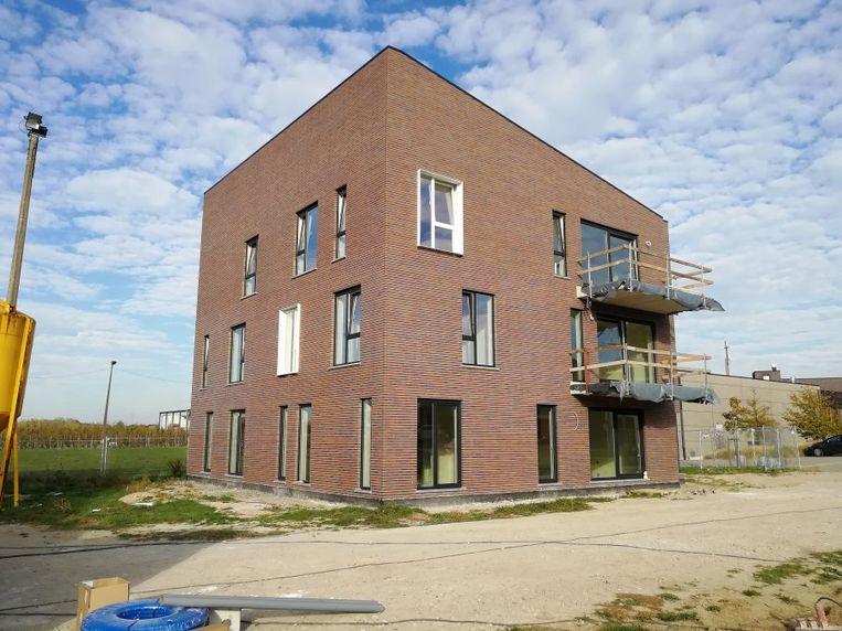 Appartementen  in aanbouw in de P. Cuypersstraat te Nieuwerkerken