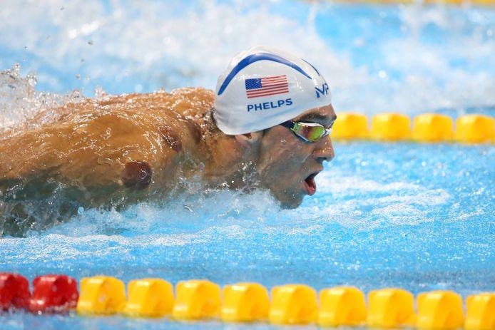 Michael Phelps tijdens de Olympische Spelen in Rio.