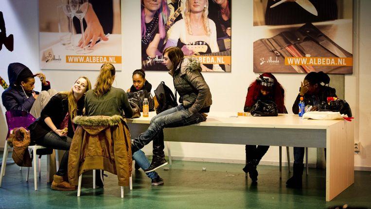 Mbo-leerlingen van het Albeda College in Rotterdam. Beeld anp