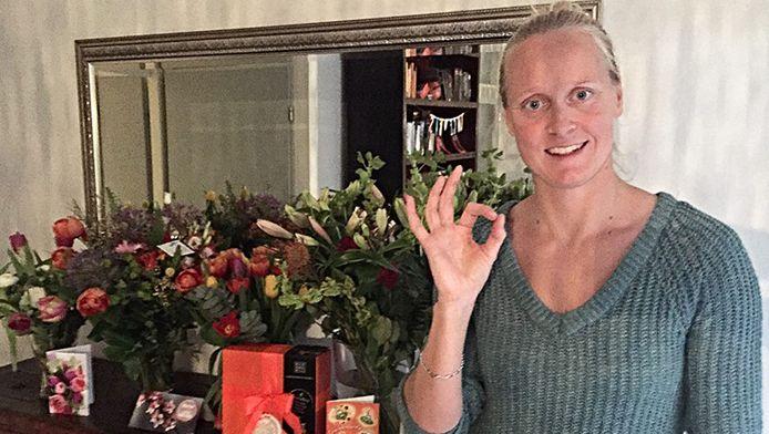 Inge Dekker is blij met alle steun die ze krijgt na de diagnose van kanker.