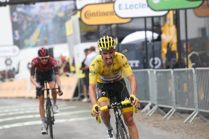 Pour la première fois depuis le départ du Tour, Julian Alaphilippe a montré des signes de faiblesse, dimanche, sur les pentes du Prat d'Albis. Le début de la fin pour le Français?