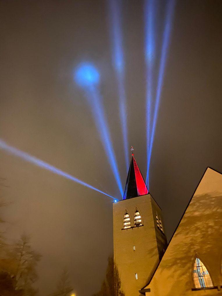 De lichtshow op de Bosmolens was indrukwekkend.