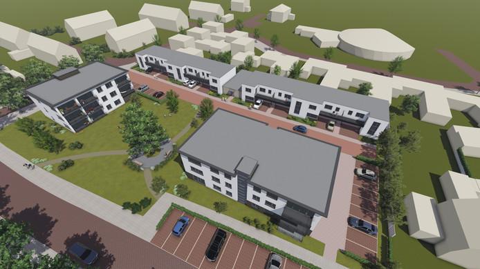 Er komt nieuwbouw aan de Zandbosweg in Deurne.