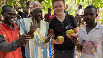 Chocolatier Anton bezoekt cacaoplantages in Ivoorkust
