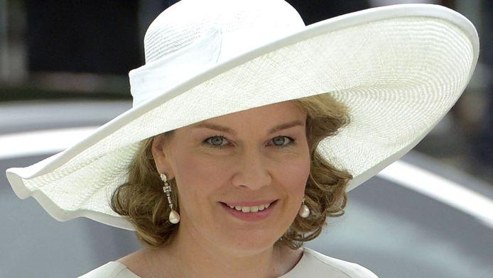 Koningin Mathilde op de nationale feestdag.