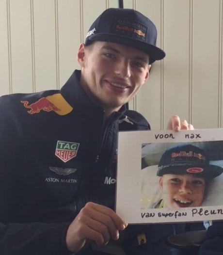 Hoe één tweet de zieke Pleun (14) bij zijn held Max Verstappen bracht