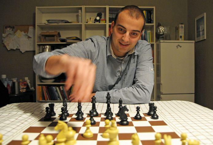 Koen Leenhouts, schaker van HWP uit Sas van Gent.