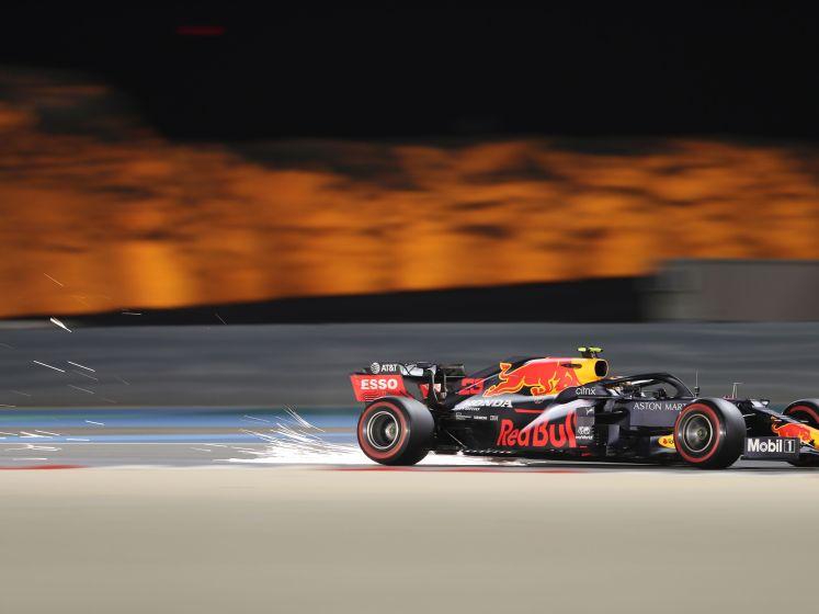 Verdwaalde hond op circuit bij tweede vrije training Bahrein; Verstappen tweede