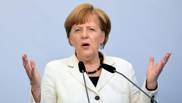 De Duitse bondskanselier Angela Merkel.