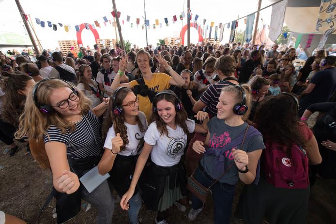 De Silent Disco is populair op Appelpop.