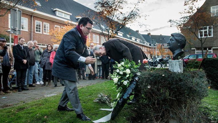 De grootste Amsterdammer en grootste Nederlandse verzetsmens ooit, 'tante Truus' Wijsmuller-Meijer wordt geëerd Beeld Jean-Pierre Jans