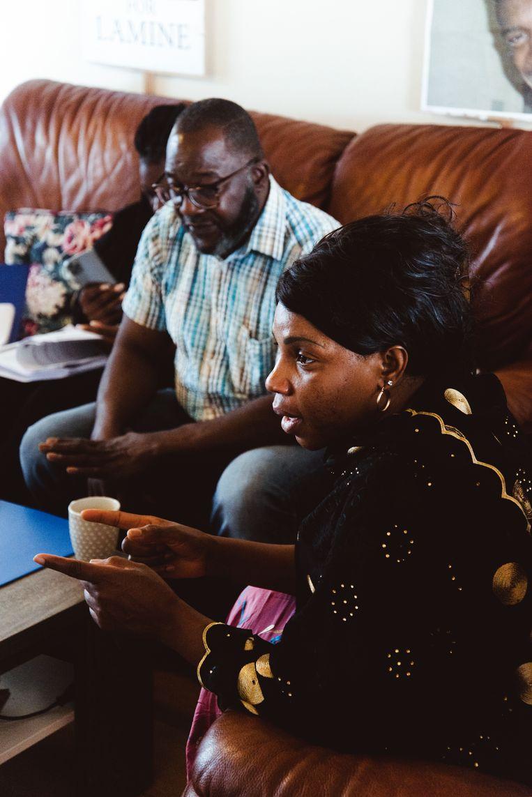 Marthe Millimono, moeder van Lamine Bangoura: 'Wij willen een confrontatie met de agenten. Oprechte excuses moeten mogelijk zijn.' Beeld Francis Vanhee