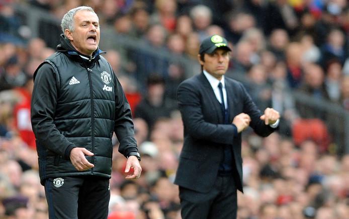 José Mourinho en Antonio Conte.