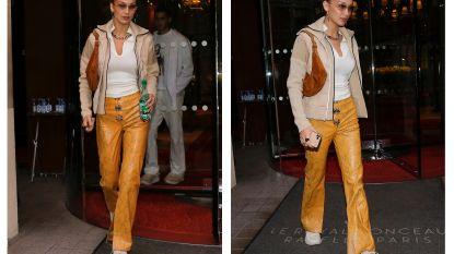 Bella Hadid gespot in broek van Belgische makelij