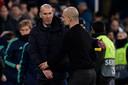Zinédine Zidane (links) en Pep Guardiola.
