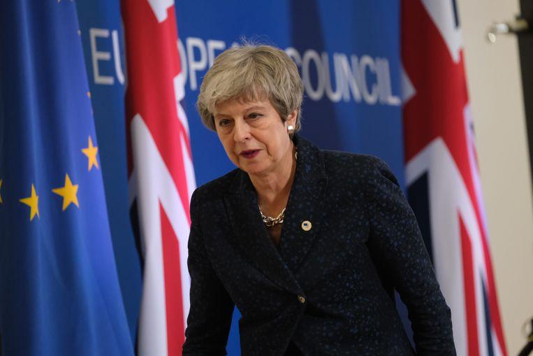 De Britse premier Theresa May heeft een ultimatum van de Europese Unie gekregen. Beeld Getty Images