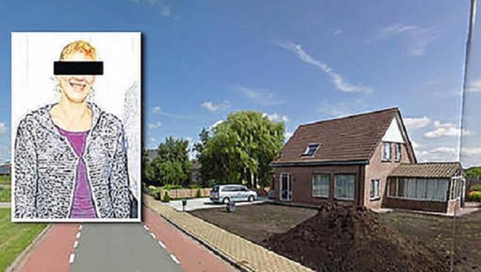 Het 12-jarige meisje werd op 16 februari aangetroffen in de woning aan de Geestweg in Roelofarendsveen. Inzet: moeder Petra T.