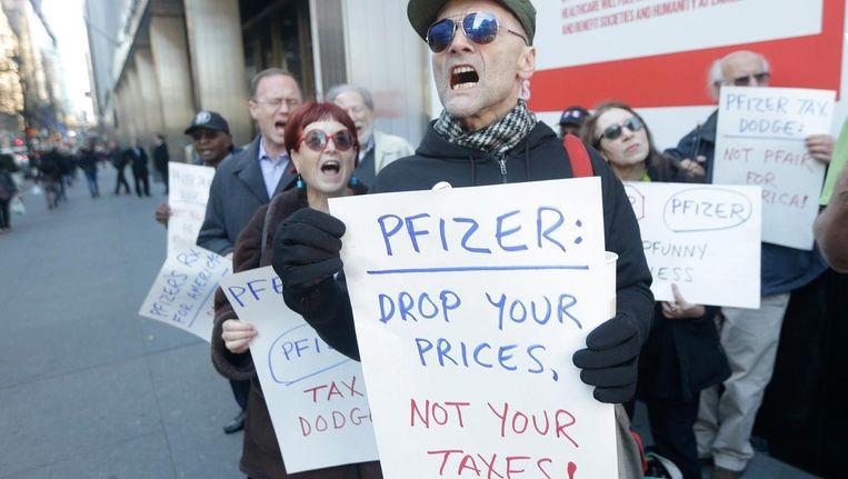 De Amerikaanse farmaceut Pfizer wilde ook naar Ierland. President Obama stak daar een stokje voor. Beeld epa