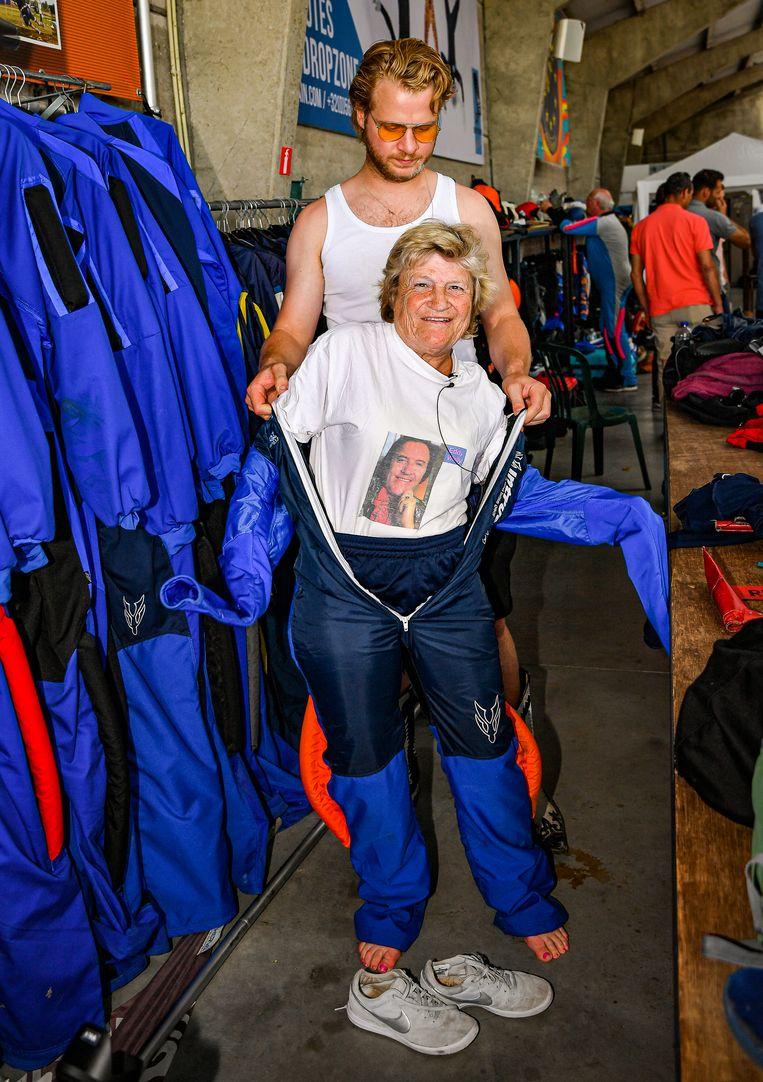 MOORSELE, BELGIUM - JULY 29 : Marina Wally Parachutesprong pictured on July 29, 2019 in Moorsele, Belgium, 29/07/2019 ( Photo by Joel Hoylaerts / Photo News )