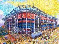 Echte voetbalkunst: Erika schildert Grolsch Veste als Van Gogh