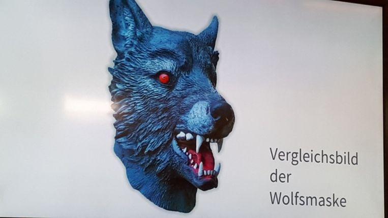 Het bewuste wolfsmasker ziet er ongeveer zo uit