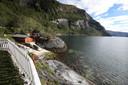 In de buurt van deze plek aan de fjord tussen Fauske en Rognan is de kajak van Kamphuis aangespoeld