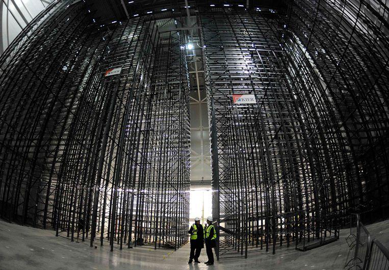 Een gebouw van de British Library waar 750 miljoen pagina's van kranten worden opgeslagen. Beeld REUTERS