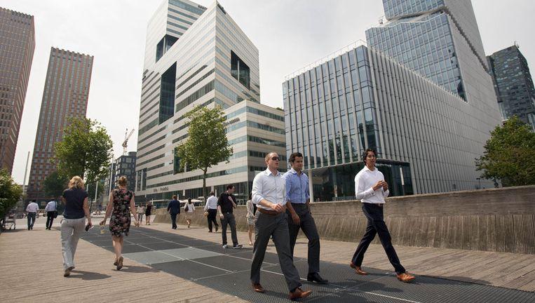 Het hart van het Amsterdamse zakenleven, de Zuidas. Foto ANP Beeld