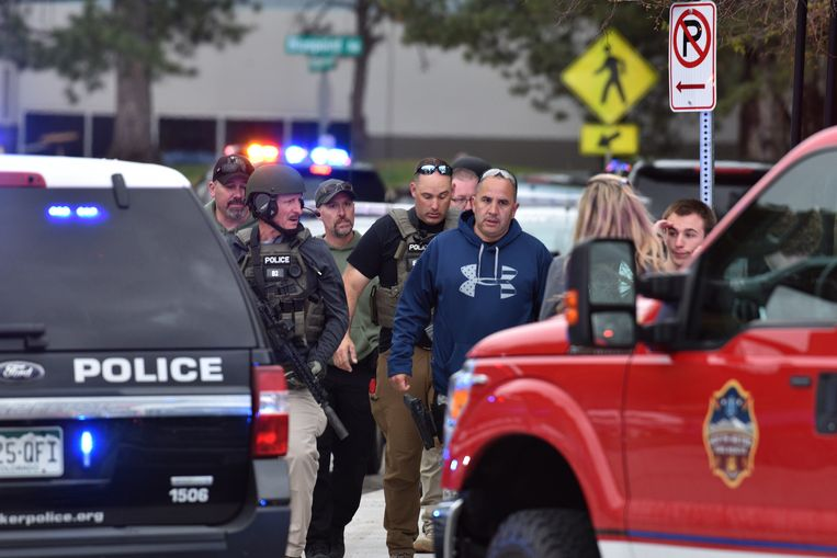 Bij het schietincident raakten 8 scholieren gewond. Een van hen overleed later in het ziekenhuis.  Beeld AFP