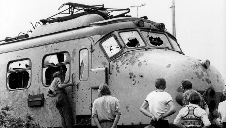De trein na afloop van de kaping bij De Punt Beeld anp