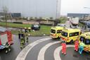 De situatie op de kruising in Waalwijk.