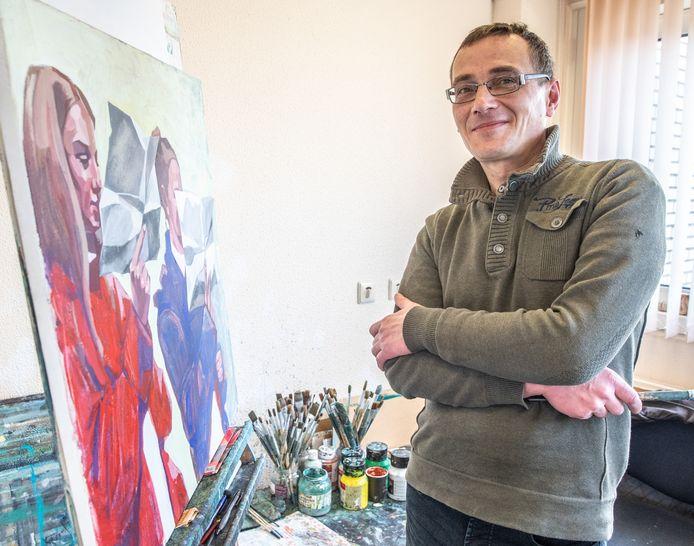 Pavel Shynkarenk was als kunstenaar werkzaam bij het 50|50 Workcenter in Zwolle, een locatie van het Leger des Heils, waar hij vorige week overleed.