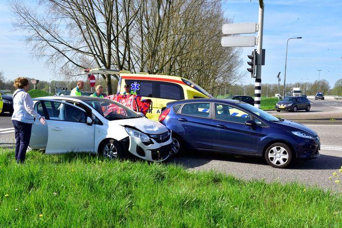 Een oudere man raakte gewond bij een botsing in Nieuwegein.