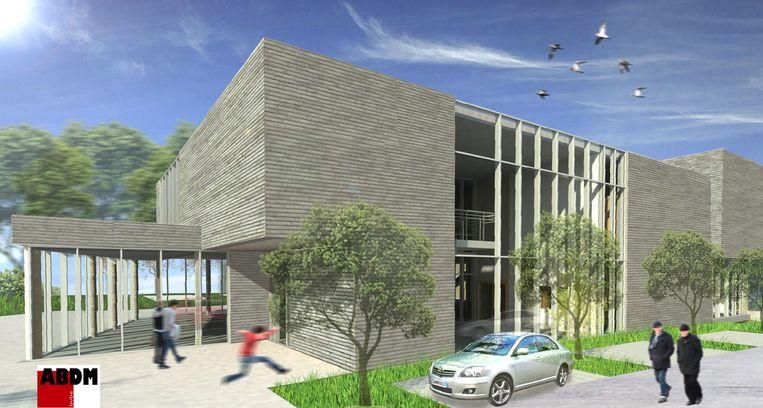 Zo zal het nieuwe gebouw er gaan uitzien.