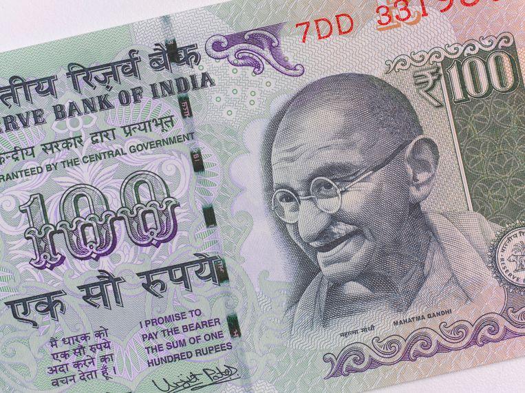 Ghandi staat al op Indiase bankbiljetten. Beeld Getty Images