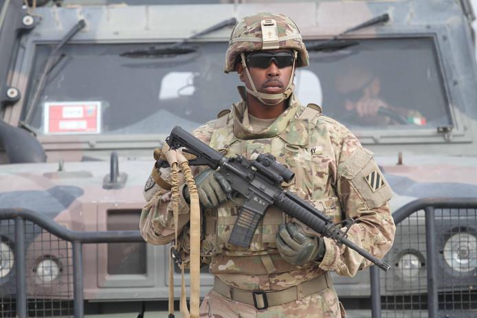 Zo'n 12.000 Amerikaanse militairen werden in Afghanistan gestationeerd voor operatie Resolute Support.