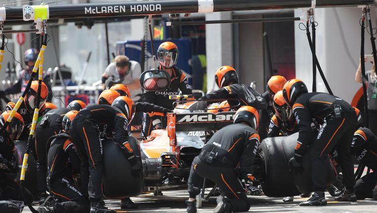 Vlekkeloze pitstop van McLaren-Honda en Stoffel Vandoorne gisteren in Spielberg.
