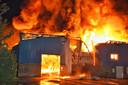 Zeer grote brand aan de Kroonstraat in Tilburg