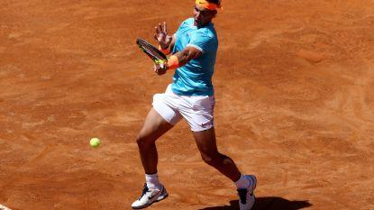 Nadal zet jacht op negende eindzege in Rome vlot in - Federer, Djokovic en Osaka door, Halep laat zich verrassen