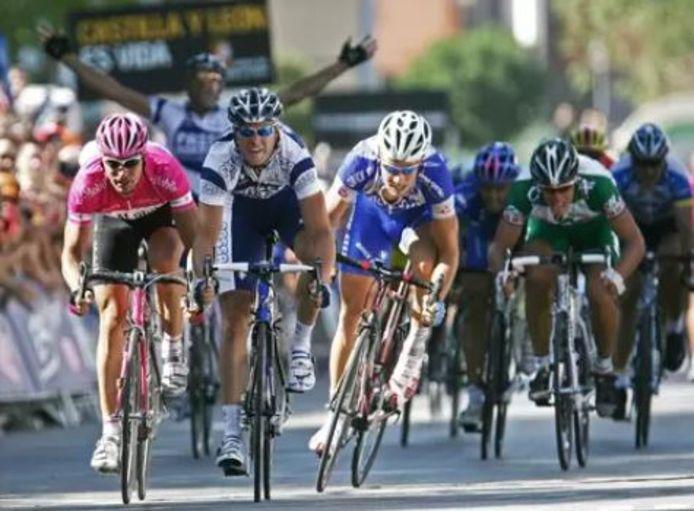 Petacchi wint de derde rit in de Vuelta voor Zabel en Boonen.