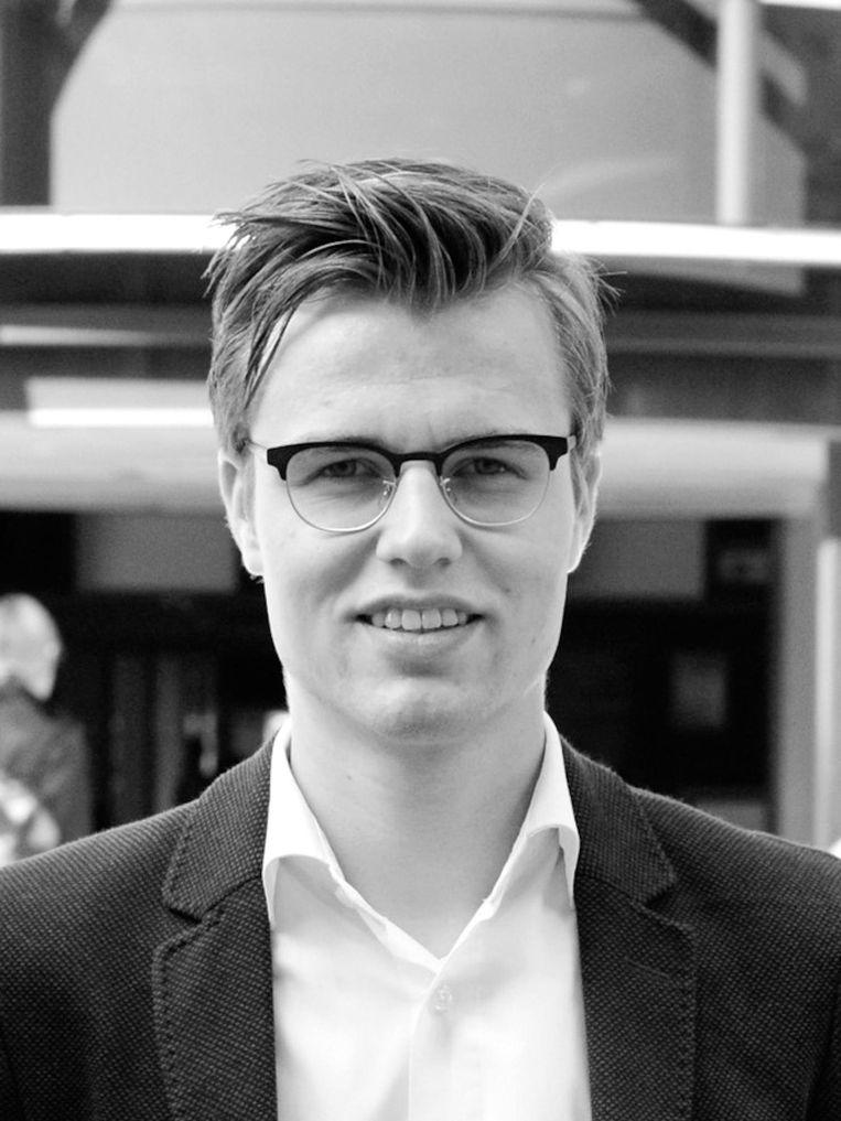 Maarten van Nieuw Amerongen, afgestudeerd politicoloog, masterstudent politieke filosofie Universiteit Leiden en actief SGP-lid.  Beeld