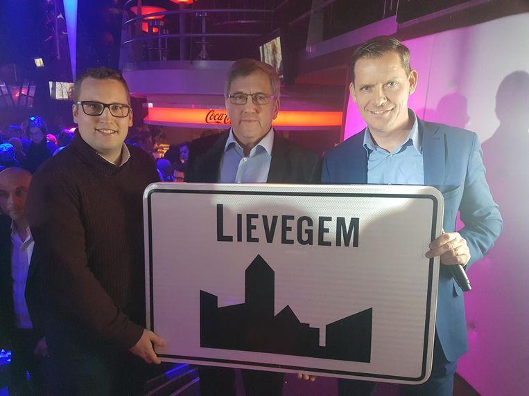 Drie tenoren uit de Lievegemse politiek.