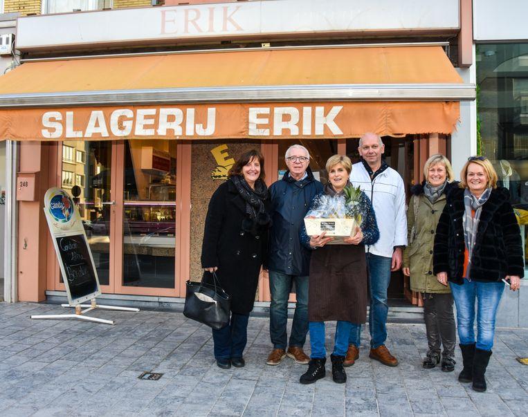Schepen Dorine Geersens, Jean-Claude Depry (Hartje Koksijde),  Martine Aneca, Erik Aneca, Annick Vandenbroucke en Martine Verhelle (Hartje Koksijde)