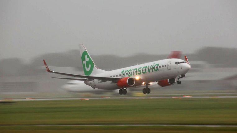 De vlucht keerde al snel terug naar Schiphol Beeld anp