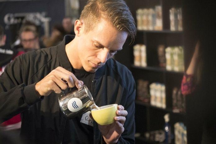 Rob Clarijs tijdens de Coffee Masters in Londen.