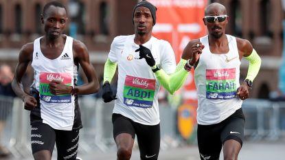 Bashir Abdi moet in halve marathon van Londen alleen Mo Farah voor zich dulden