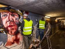 Graffiti in tunnel bij Ekkersrijt laat historie weer leven